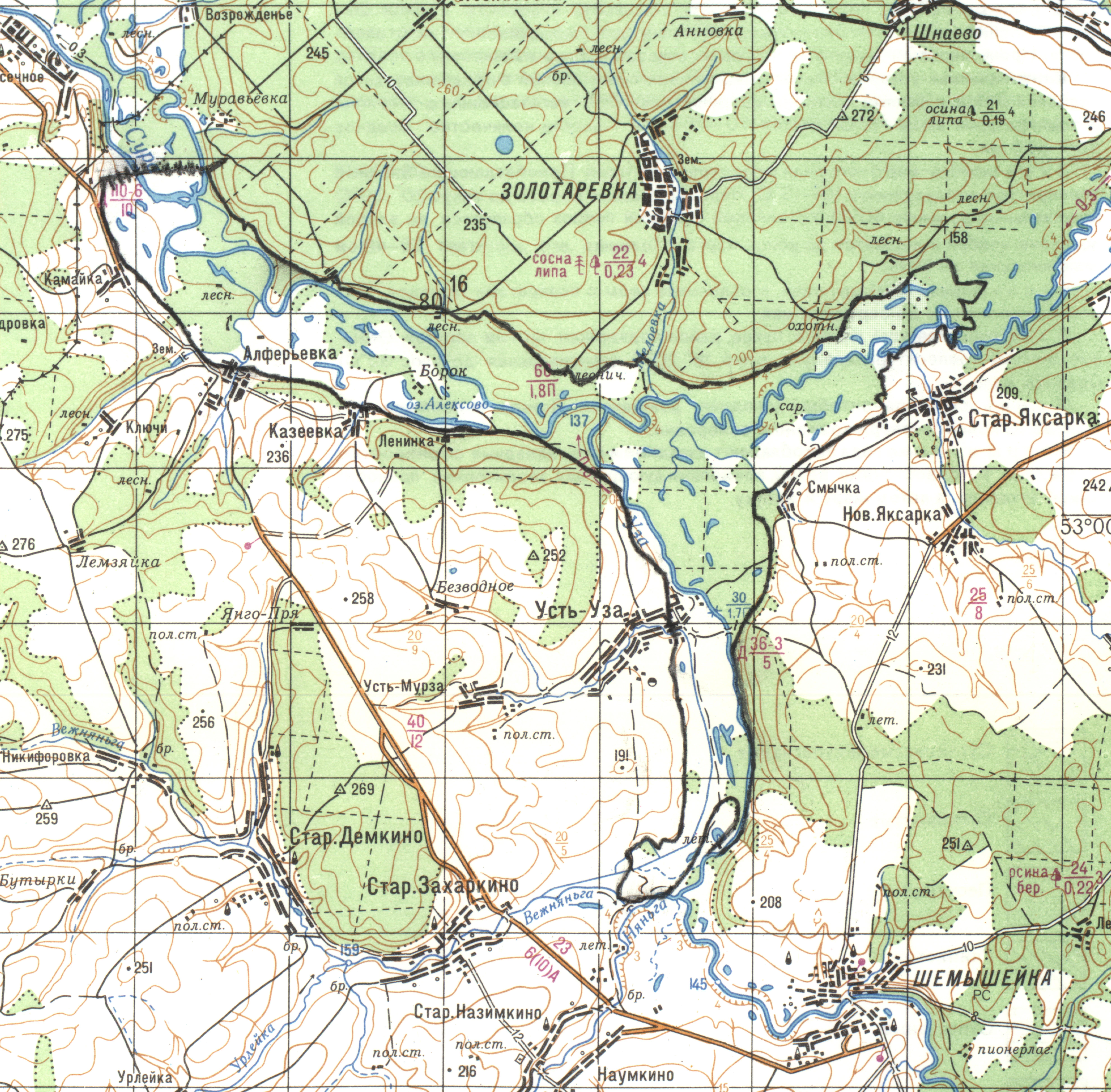 карта глубин дубровского водохранилища